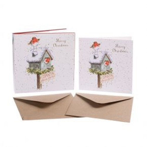 Wrendale  Merry Christmas Santa Please Stop Here - NOW 50% OFF