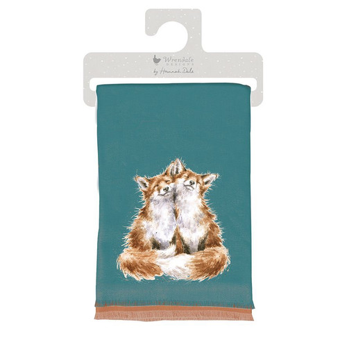 Wrendale Contentment Winter Scarf Fox