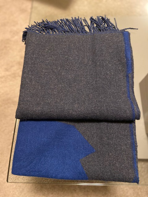 Radley  Colour Block Scarf Charcoal/Blue - NOW 50% OFF