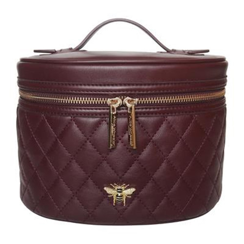 Alice  Wheeler Mulberry Quilted Vanity Case Aw0068