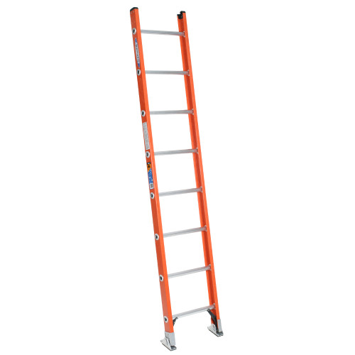 Werner D6200-1 Series Fiberglass Single Section Ladder // 300 lb Rated