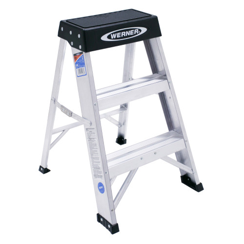 Werner 150B 2' Aluminum Step Stool //  300 lb Rating