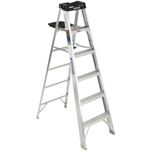 Werner 370 Series Aluminum Stepladder // 300 lb Rated