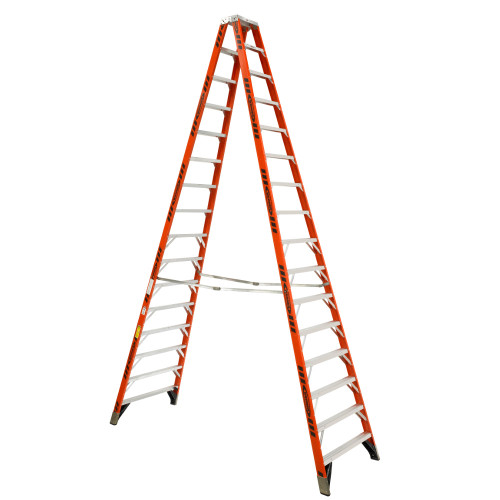 Werner T7400 Series Fiberglass Twin-Sided Stepladder // 375 lb Rated