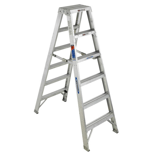 Werner T370 Series Aluminum Twin-Sided Stepladder // 300 lb Rated