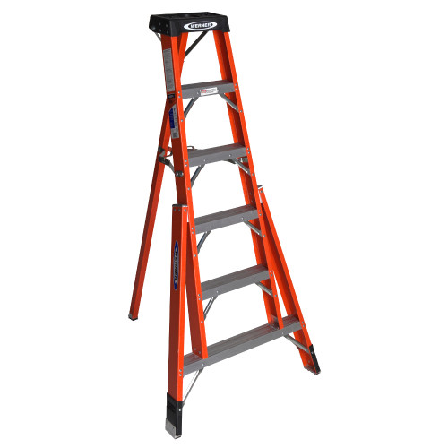 "Werner FTP6200 Series Fiberglass ""TRIPOD"" Stepladder // 300 lb Rated"