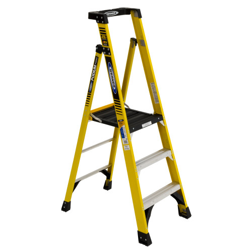 Werner PD7300 Series Fiberglass PODIUM Stepladder // 375 lb Rated