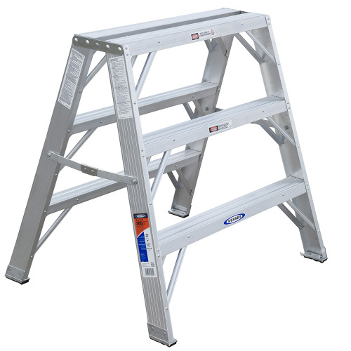 Werner TW370-30 Series Aluminum Twin-Sided Step Stand // 300 lb Rated