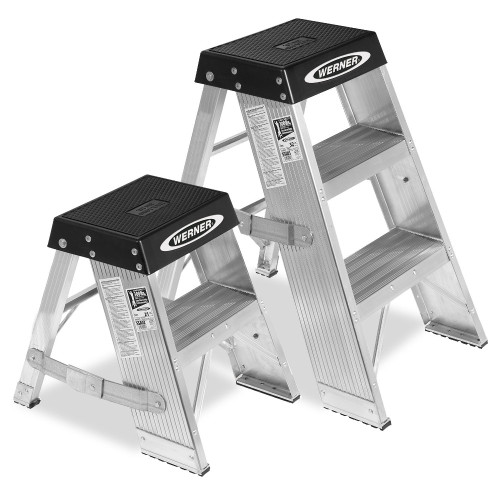 Werner SSA Series Aluminum Step Stand //  375 lb Rating
