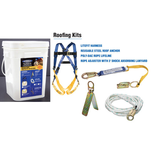 Werner Fall Protection - K112201 Roofing Fall Protection Kit // 50' Basic