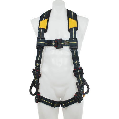 Werner Fall Protection - Blue Armor Arc Flash Dielectric Harness Positioning / Pass Thru Legs