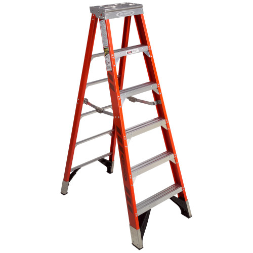 Werner 7400 Series Fiberglass Stepladder // 375 lb Rated