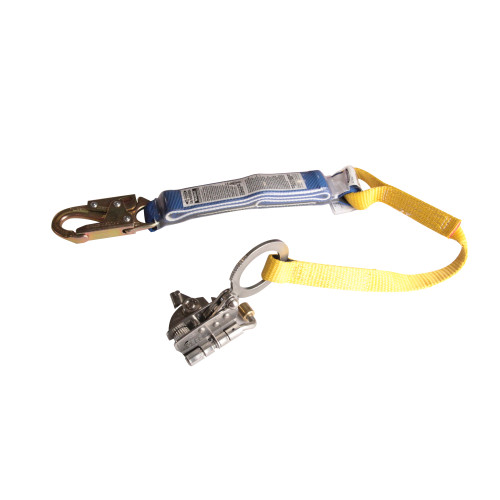L240001 Stainless Steel Trailing Rope Grab w/Shock Absorbing Lanyard by Werner