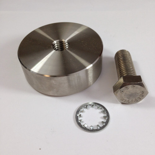 "A570006 Stainless Weld Puck Kit for Mega Swivel  (Includes: Puck w/ 5/8-11 Spiralock® thread & 5/8-11 x 1.75"" G8 HH Bolt) by Werner"