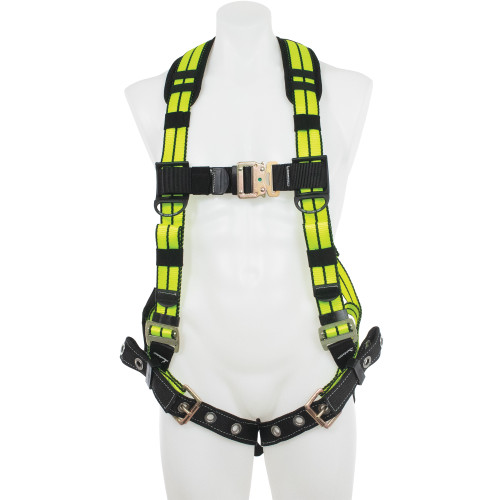 H11200_XHV Blue Armor 2000 Hi-Viz Standard Harness - Tongue Buckle Legs by Werner