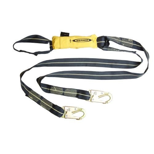 C913100 SoftCoil Arc Flash Twinleg Lanyard (Loop, Snaphooks) - 6' by Werner