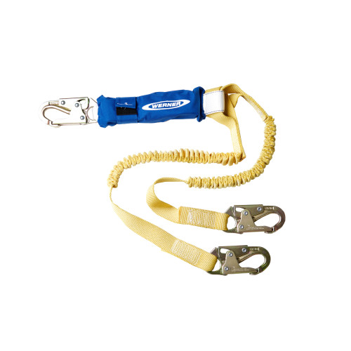 C441100 DeCoil Stretch Twinleg Lanyard (Snaphooks) - 6 Ft by Werner