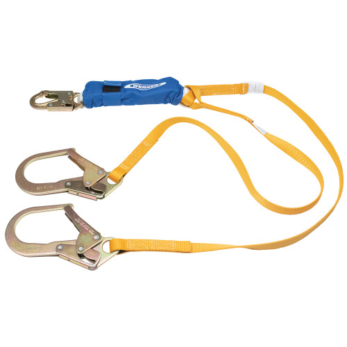 C441200 DeCoil Stretch Twinleg Lanyard (Snaphook and Rebar Hooks) - 6 Ft by Werner