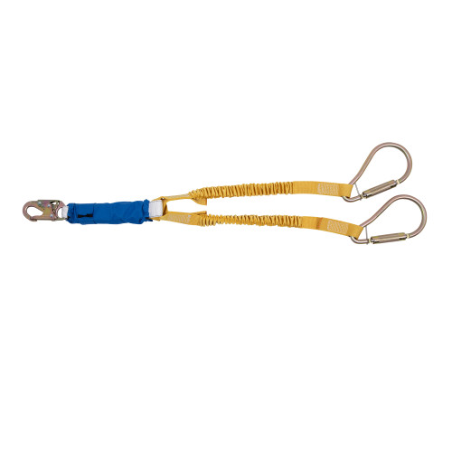 "C441400 DeCoil Stretch Twinleg Lanyard (Snaphook and 2"" Carabiners) - 6 Ft by Werner"