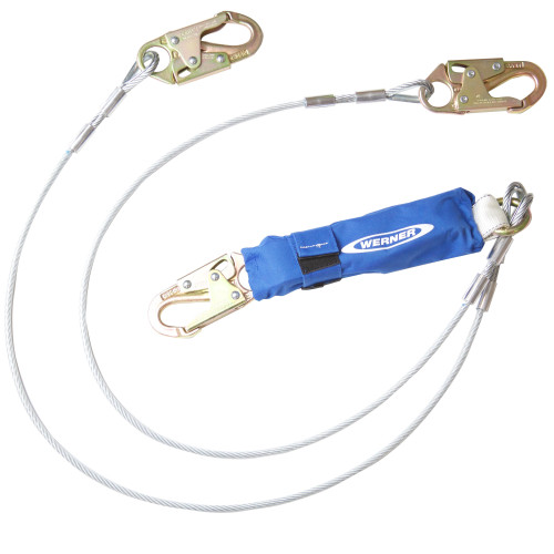 C461100 DeCoil Twinleg Lanyard (Cable, Snaphooks) - 6 Ft by Werner