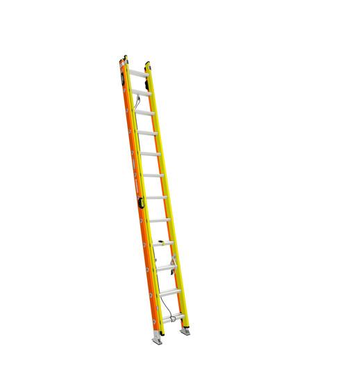 Werner T6200-2GS Series GLIDESAFE Fiberglass Extension Ladder // 300 lb Rated