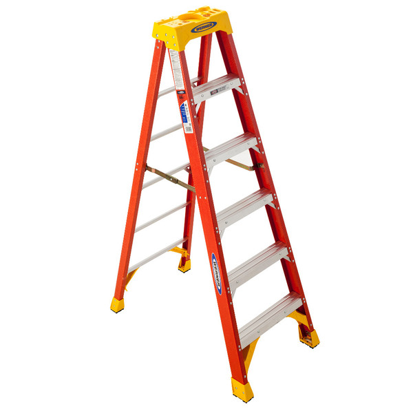 Werner 6200 Series Fiberglass Stepladder // 300 lb Rated