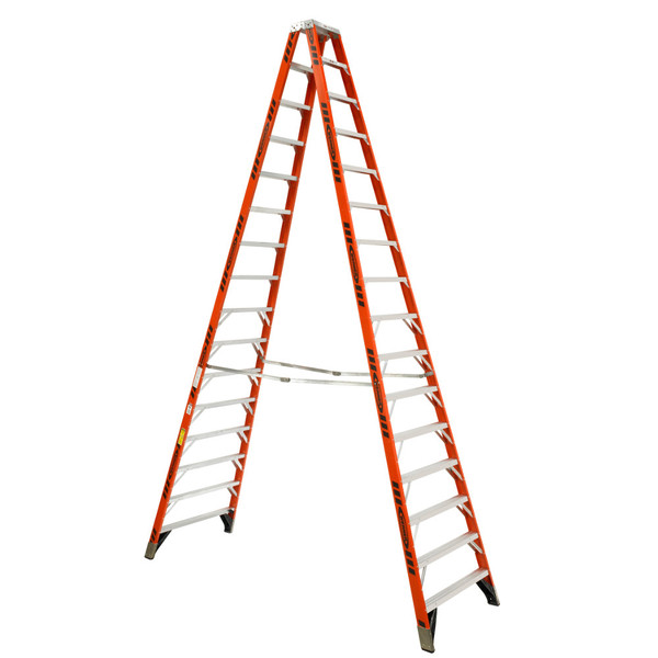 Werner T7400 Series Fiberglass Twin-Sided Stepladder // 375 lb Rated**