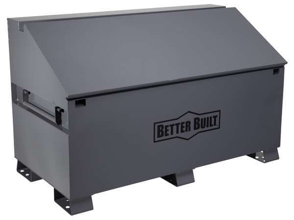 3068-BB   Better Built Jobsite Sloped Chest box measures 60in W x 30in D x 37.625in H