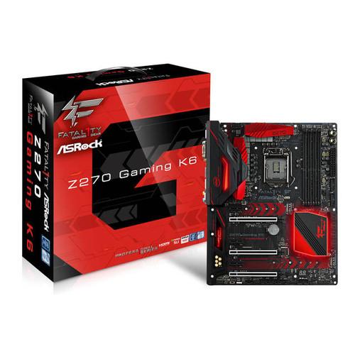 ASRock FATAL1TY Z270 GAMING K6 LGA1151/ Intel Z270/ DDR4/ Quad CrossFireX & Quad SLI/ SATA3&USB3.1/ M.2/ A&2GbE/ ATX Motherboard