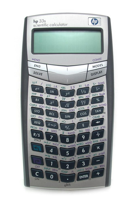 F2216A#ABC - HP 33s Scientific Calculator 100 Functions 2 Line(s) 10 Character(s) Battery Powered3.2-inch x 0.6-inch (Refurbished)
