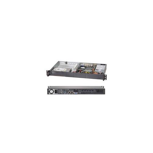 Supermicro SuperServer SYS-5017A-EP Intel Atom N2800 200W 1U Rackmount Server Barebone System (Black)