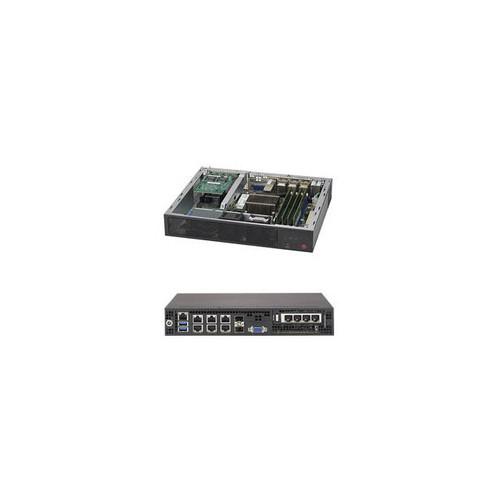 Supermicro SuperServer SYS-E300-8D FCBGA 1667 Mini-1U Server Barebone System (Black)