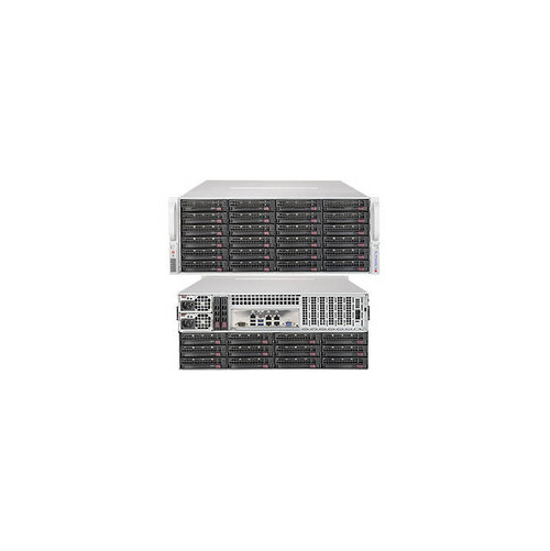 Supermicro SuperStorage Server SSG-6048R-E1CR36H Dual LGA2011 1280W 4U Rackmount Server Barebone System (Black)