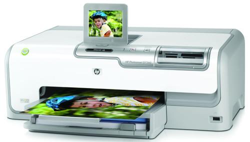 CC975B - HP PhotoSmart D7260 Color InkJet Printer 34-ppm 100-Sheets 1200dpi x 1200dpi (Black) 4800dpi x 1200dpi (Color) 64MB Memory AC 120/230v Hi-Speed USB REFURBISHED
