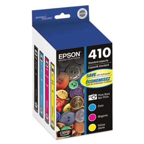 Epson 410 Color Ink Cartridges, C/M/Y/Photo Black 4-Pack
