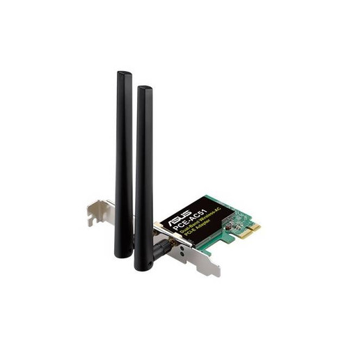 Asus PCE-AC51/BULK Wireless AC750 PCIe Adapter Card for Dual-Band 2x2 802.11AC WiFi