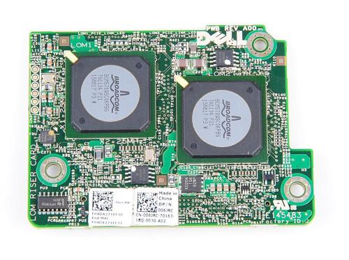 006JRC - Dell Broadcom 5709s 4-Port 10GbE Embedded Mezzanine Network Interface Card