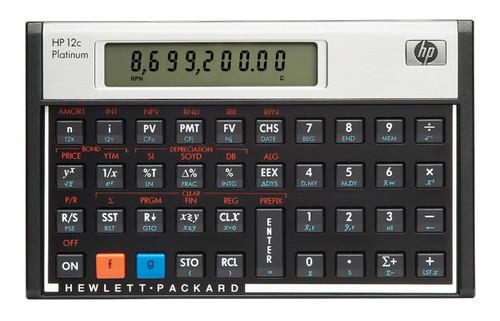 HP 12c Desktop Financial calculator Aluminium, Black calculator