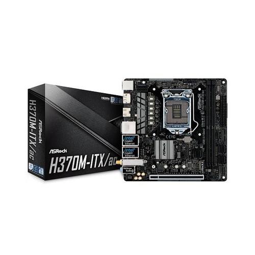 ASRock H370M-ITX/AC LGA1151/ Intel H370/ DDR4/ SATA3&USB3.1/ M.2/ WiFi/ A&2GbE/ Mini-ITX Motherboard