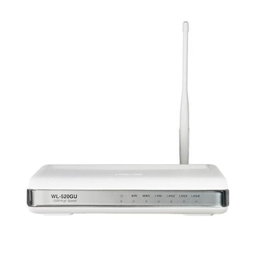 WL-520GU - ASUS 125M Broad Range EZ Wireless Router w/ Printer Server