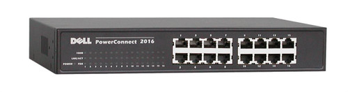06X158 - Dell PowerConnect 2016 16-Ports 10/100 Fast Ethernet Switch (Refurbished)