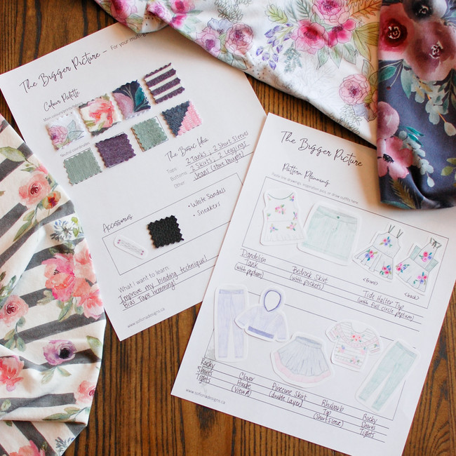 Capsule collection sewing planner.