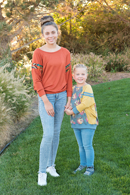 Miss Birch and Birch sweater with fun sleeve details