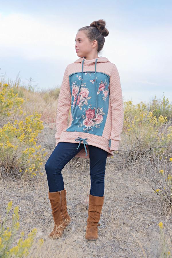 Hooded Top/Shirt/Sweater.  Girls PDF sewing pattern