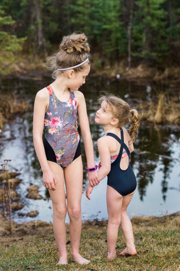 On Trend girls PDF one piece swim pattern Sofiona Designs size 2-16