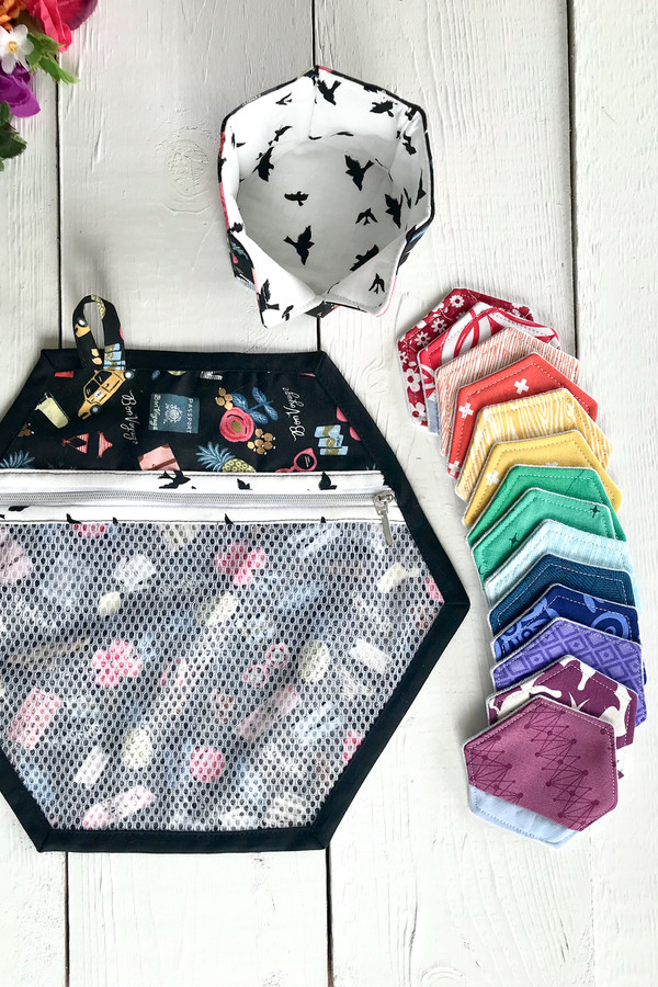 Cute little set of make-up remover pads, storage basket and laundry bag.