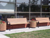 Victorian Bench with Backrest - Coffee Shop 2