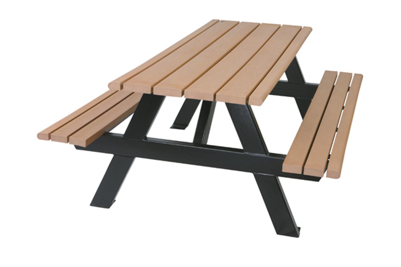 6 Classic Picnic Table Park Benches Public Furniture