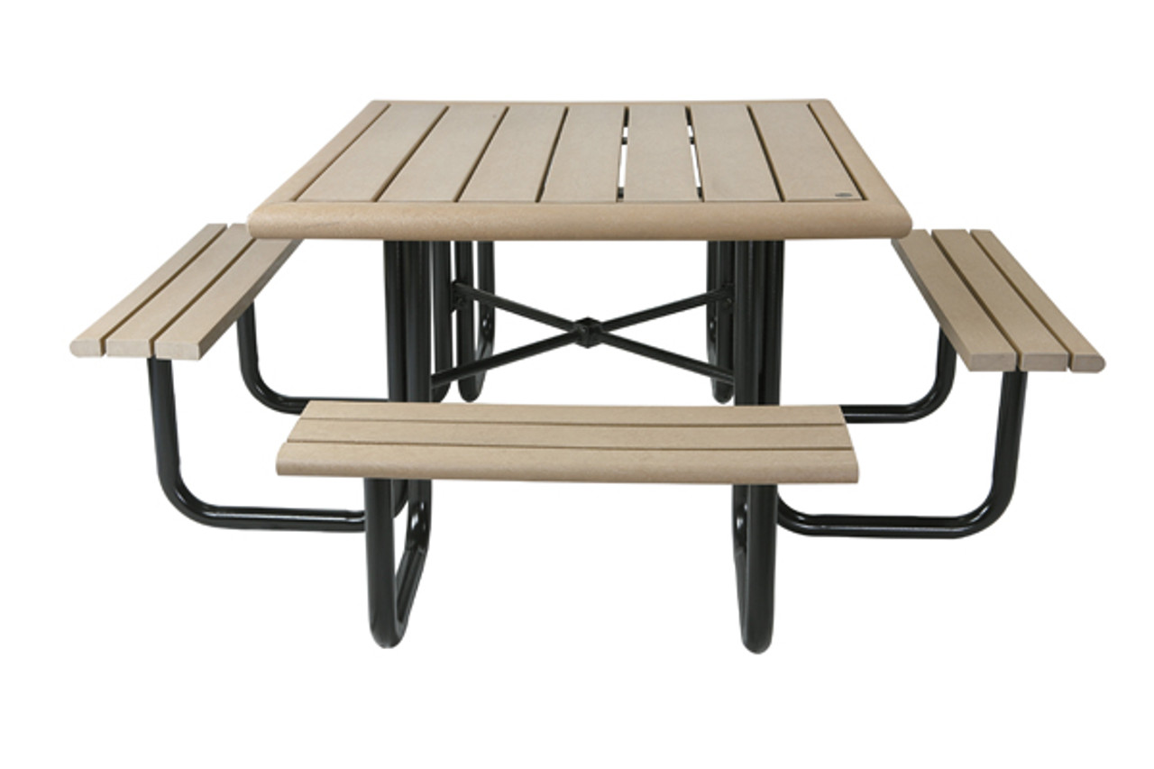 Square Public Place Picnic Table Wheelchair Accessible With