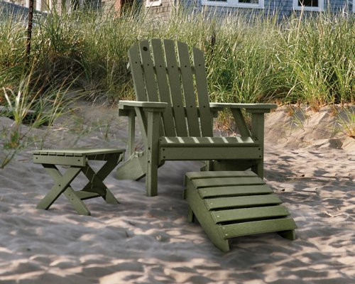 Adirondack Chair with solid brass hardware